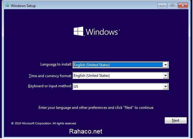 نصب ویندوز روی انواع تین کلاینت- مرحله دوم