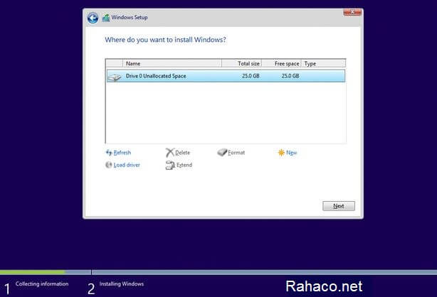 نصب ویندوز روی انواع تین کلاینت- مرحله پنجم
