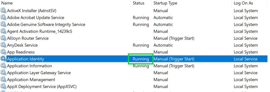 Running محدودسازی دسترسی کاربران