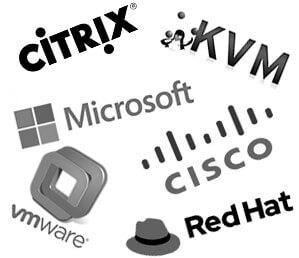 شرکت های فعال در زمینه مجازی سازی